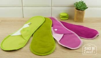 Serviette hygiénique lavable flux abondant